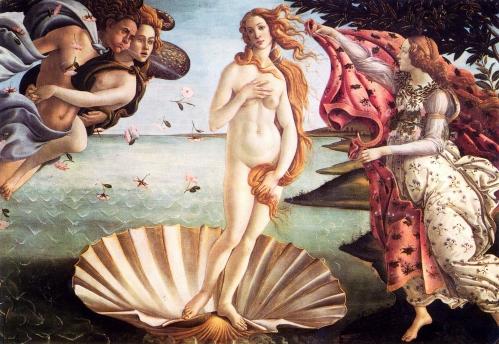 El nacimiento de Venus (Sandro Botticelli, 1484)